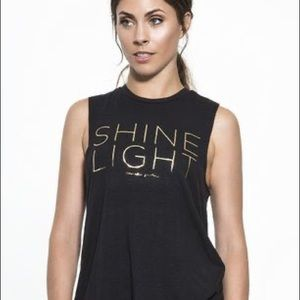 "Spiritual Gangster ""Shine Light"" black tank"